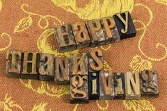 Impression typographique heureuse de Thanksgiving Images stock