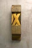 Impression typographique X Photos libres de droits