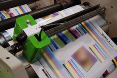 Impression UV de presse de flexo Images libres de droits
