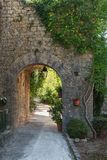 Impression of the village Balazuc  in the Ardeche region of Fran Royalty Free Stock Photo