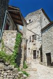 Impression of the village Balazuc  in the Ardeche region of Fran. Impression of the village Balazuc  which is recognized as historical heritage and is considered Stock Photos