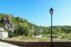 Impression of the village Labeaume  in the Ardeche region of Fra. Impression of the village Labeaume  which is recognized as historical heritage and is conered Stock Images