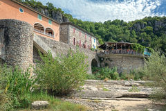 Impression of the village Vogue n the Ardeche region of France. Impression of the village Vogue  which is recognized as historical heritage and is considered one Stock Photos