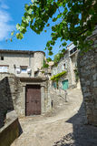 Impression of the village Vogue in the Ardeche region of France. Impression of the village Vogue which is recognized as historical heritage and is considered one stock photography