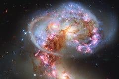 Impressionante di spazio profondo Miliardi di galassie nell'universo immagini stock