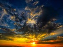 impressionante este por do sol em Colômbia fotografia de stock royalty free