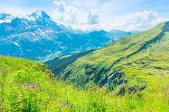 Impressionare le catene di montagna fotografia stock libera da diritti