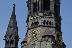 Impressioni dal Kaiser Wilhelm Memorial Church, Gedaechtniskirche a Berlino, Germania Immagine Stock