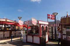 Impressioni del 1#day della regata del rum Flensburg 2014 Immagini Stock