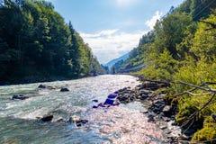Impressioni della riva del fiume fotografie stock libere da diritti