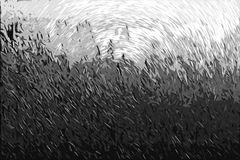 Impressionism που χρωματίζει: Μαύρο υπόβαθρο Στοκ Εικόνα