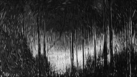 Impressionism painting: Black Forest royalty free stock image