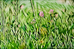 Impressionism painting: Flowers Stock Image