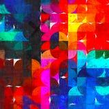 Impressionisme lumineux de peinture de cercle Photographie stock