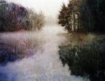Impressionist Autumn Lake stock foto