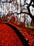 Impressionist autumn scene stock illustration