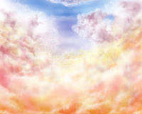 Impressionist clouds Stock Image