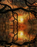 Impressionist Landscape Stock Image