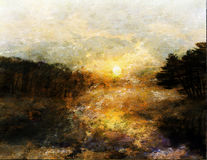 Impressionist Landscape Royalty Free Stock Photo