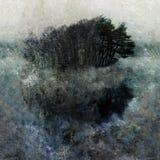 Impressionist landscape pattern vector illustration