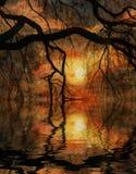 Impressionist-Landschaft Stockbild