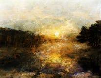 Impressionist-Landschaft lizenzfreie abbildung