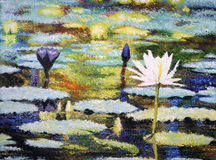 Impressionist Lilies stock photos