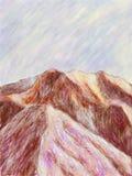 Impressionist Mountain Stock Photos