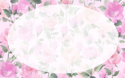 Impressionist Painterly watercolor Rose blossom Flowers Stock Images