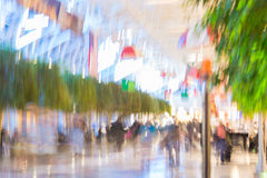 Impressionist Pedestrian Walkway Royalty Free Stock Photography