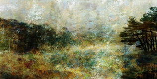 Impressionist Style Landscape Royalty Free Stock Photography
