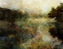 Impressionist Style Landscape stock illustration