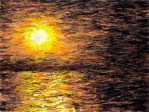Impressionist Sunset (Dark Misty) Royalty Free Stock Photo