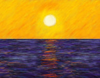 Impressionist Sunset Stock Images