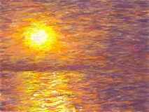 Impressionist Sunset (Misty) Stock Photo