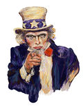Impressionist Uncle Sam Stock Image