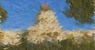 Impressionist-Wiedergabe des Staat California-Kapitol-Gebäudes stock video