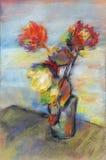 Impressionistic boeket van bloemen Stock Afbeeldingen