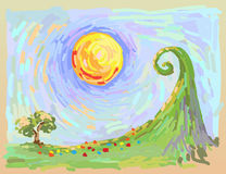 Impressionistic landscape Royalty Free Stock Image