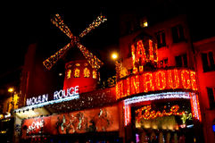 Impressionistic Moulin Rouge Royalty Free Stock Photos
