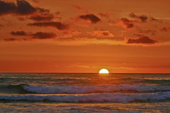 Impressionistic Pacific Sunset Royalty Free Stock Images
