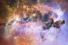 Impressionnant de l'espace lointain Milliards de galaxies dans l'univers illustration de vecteur