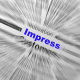 Impressionnez l'impression satisfaisante d'affichages de définition de sphère ou ex Photographie stock