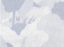 Impressionnist blue  landscape Stock Image
