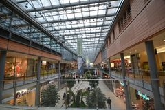 Impressions from the Arcades at Potsdamer Square, Potsdamer Platz in Berlin, Germany Stock Photos