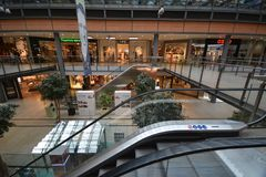 Impressions from the Arcades at Potsdamer Square, Potsdamer Platz in Berlin, Germany Stock Image