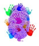 Impressions d'identité illustration libre de droits