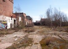 Impressions d'une ruine industrielle abandonnée photos libres de droits