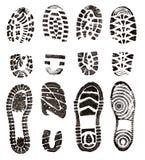 Impressions de chaussures Photographie stock libre de droits