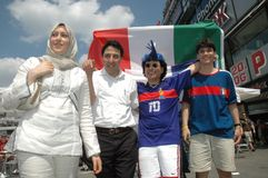 Impressions de la coupe du monde 2006 de la FIFA à Berlin depuis le 9 juillet 2006 avant la finale entre l'Italie et les Frances, Images libres de droits